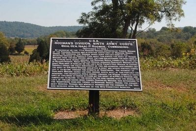 Rodman's Division, Ninth Army Corps Marker image. Click for full size.