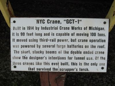 "NYC Crane, ""GCT-1"" Marker image. Click for full size."