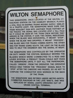 Wilton Semaphore Marker image. Click for full size.