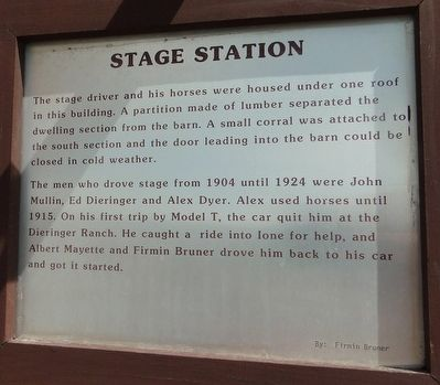 Stage Station Marker image. Click for full size.