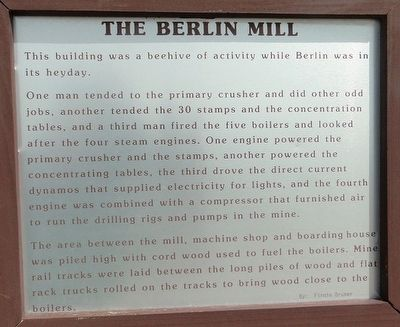 The Berlin Mill Marker image. Click for full size.