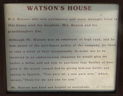 Watson's House Marker image. Click for full size.