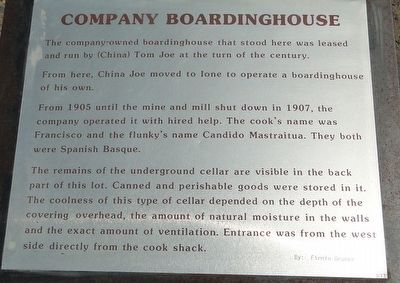 Company Boardinghouse Marker image. Click for full size.