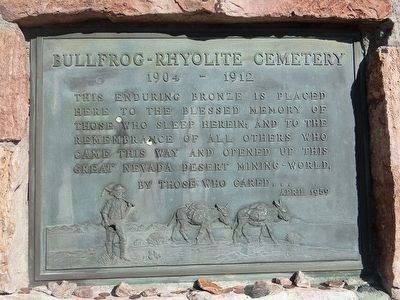 Bullfrog- Rhyolite Cemetery image. Click for full size.