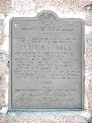 Virginia Dale Marker image. Click for full size.