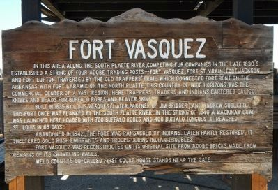 Fort Vasquez Marker image. Click for full size.