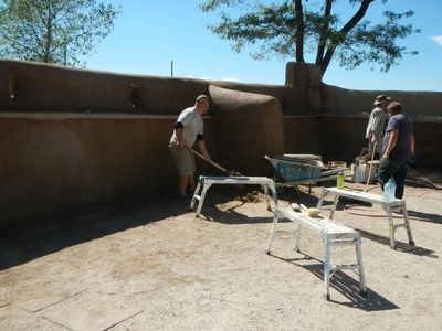 Ongoing restoration work at Fort Vasquez image. Click for full size.