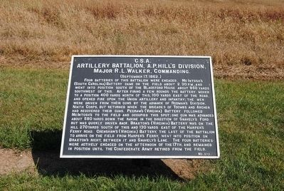 Artillery Battalion, A.P. Hill's Division Marker image. Click for full size.