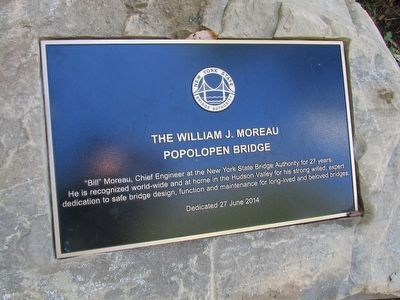 The William J. Moreau Popolopen Bridge Marker image. Click for full size.