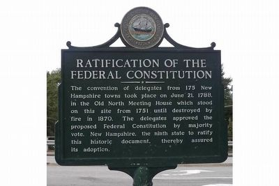 Ratification of the Federal Constitution Marker image. Click for full size.