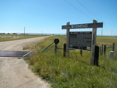 Big Laramie Stage Station Marker image. Click for full size.