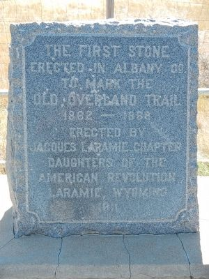 Old Overland Trail Marker image. Click for full size.