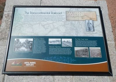 The Transcontinental Railroad Marker image. Click for full size.
