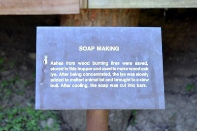 Soap Making Interpretive Sign image. Click for full size.