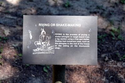 Riving or Shake-Making Interpretive Sign image. Click for full size.