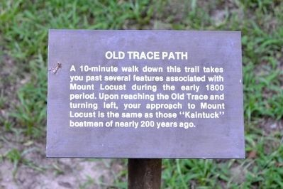 Old Trace Path Interpretive Sign image. Click for full size.