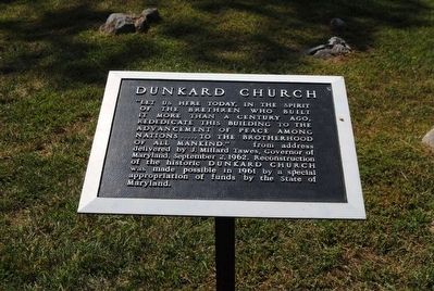 Dunkard Church Marker image. Click for full size.
