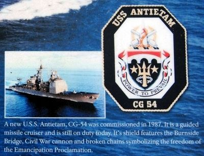 Battlefield Namesake Marker<br>USS Antietam and Patch image. Click for full size.