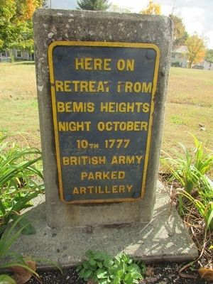 British Artillery Park Marker image. Click for full size.