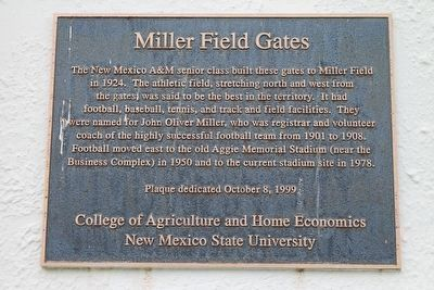 Miller Field Gates Marker image. Click for full size.