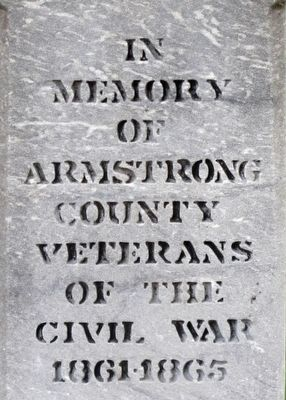 Armstrong County Civil War Memorial Marker image. Click for full size.