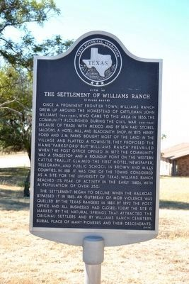 Site of the Settlement of Williams Ranch Marker image. Click for full size.