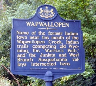 Wapwallopen Marker image. Click for full size.