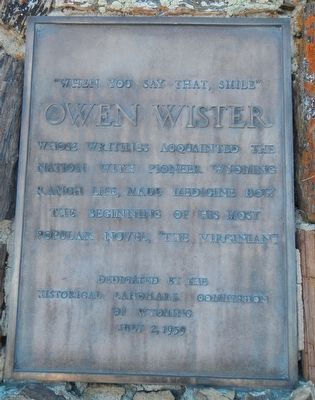 Owen Wister Marker image. Click for full size.