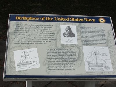 Birthplace of the United States Navy Marker image. Click for full size.