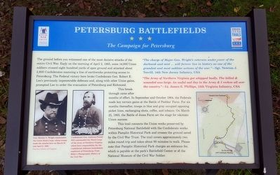 Petersburg Battlefields CWT Marker image. Click for full size.
