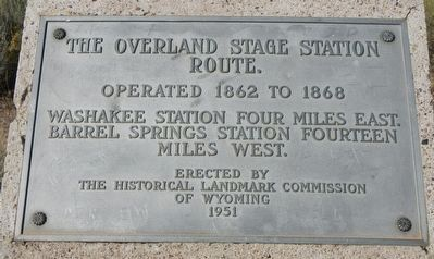 The Overland Stage Station Route Marker image. Click for full size.