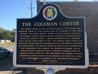 The Coleman Center Marker image. Click for full size.