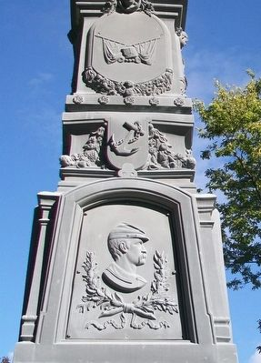 Civil War Memorial Relief image. Click for full size.
