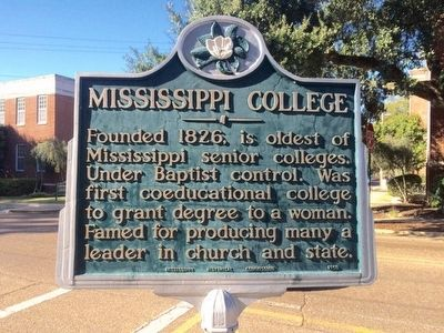 Mississippi College Marker image. Click for full size.