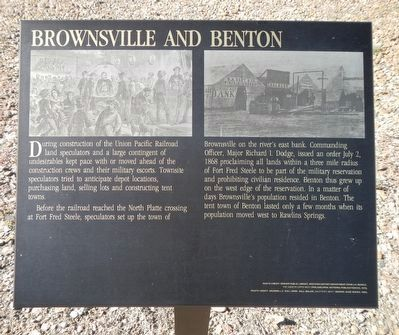 Brownsville and Benton Marker image. Click for full size.