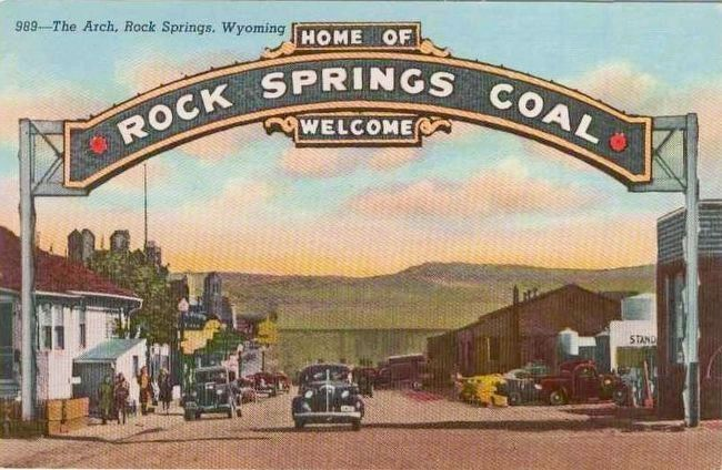 <i>The Arch, Rock Springs, Wyoming</i> image. Click for full size.