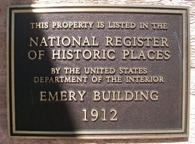 Emery Building NRHP Marker image. Click for full size.