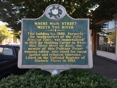 Where Main Street Meets the River Marker image. Click for full size.