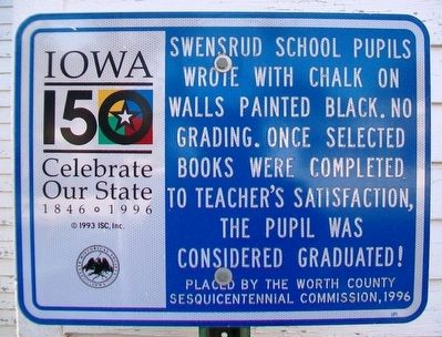 Swensrud School Marker image. Click for full size.