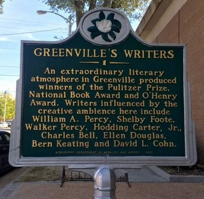 Greenville's Writers Marker image. Click for full size.