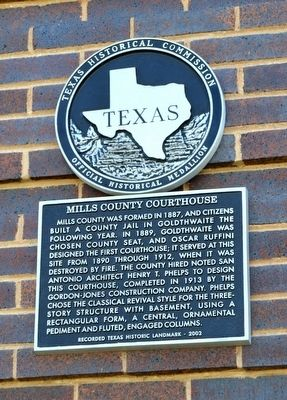 Mills County Courthouse Marker image. Click for full size.