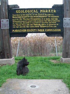 BannerB Pointing Out the New Geological Marker Marker Photo, Click for full size