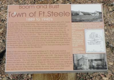 Town of Ft. Steele Marker image. Click for full size.
