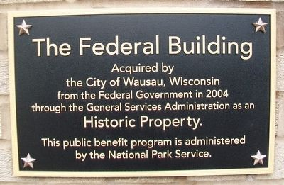 The Federal Building Marker image. Click for full size.