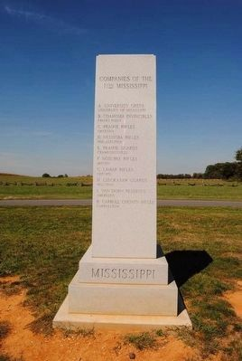 11th Mississippi Infantry Regiment Monument<br>South Side image. Click for full size.
