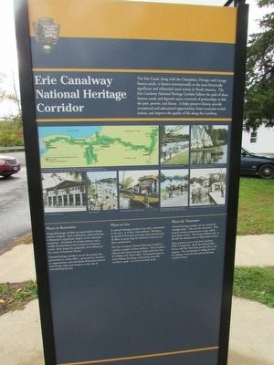 Erie Canalway NHC Marker (Reverse Side) image. Click for full size.