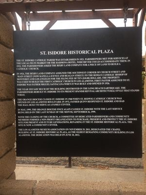 St. Isidore Historical Plaza Marker image. Click for full size.