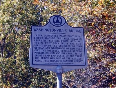 Washingtonville Bridge Marker image. Click for full size.