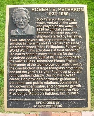 Robert E. Peterson Marker image. Click for full size.