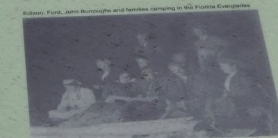 Edison, Fort, John Burroughs and families camping in the Florida Everglades. image. Click for full size.
